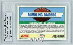 Marcus Allen Bo Jackson 1989 Score Great Combos Autograph Card #284 BAS