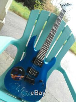 Mark Knoplfer autogramm guitare jackson blue dire straits signed live 2019 rare