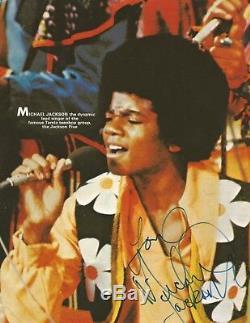 Michael Jackson 80`s Signed Autographed