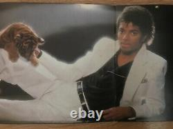 Michael Jackson And Quincy Jones Autographed Signed Thriller Lp Record Sleeve