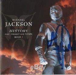 Michael Jackson Autogramm signed CD Booklet History