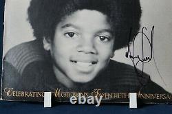 Michael Jackson Autograph Signed LP Motown Superstar Series Volume 7