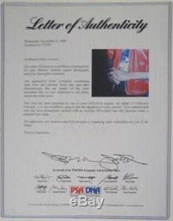 Michael Jackson Autographed 16 x 12 PSA Certfied with COA