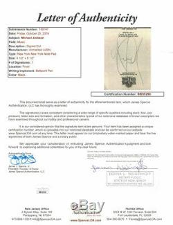 Michael Jackson Autographed Cut Paper New York New York Las Vegas JSA 26021