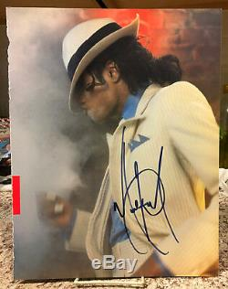 Michael Jackson Autographed Large Color Program Photo As Smooth Criminal D-2009