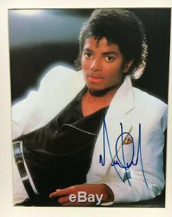 Michael Jackson Autographed Large Color Thriller Photo King of Pop