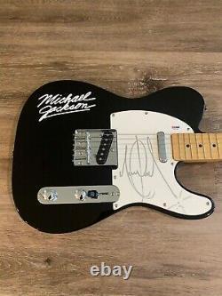 Michael Jackson Autographed Signed Guitar PSA DNA Authenticated