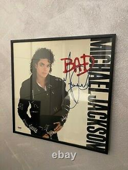 Michael Jackson Bad LP Signed Autograph No Worn PSA DNA certification