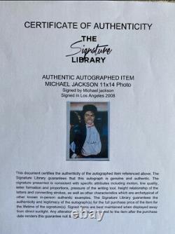 Michael Jackson Billie Jean BIG Signed Autograph No Worn