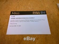 Michael Jackson Certified Julien`s Auction Signed Family Portrait 20x25 CM Jacko