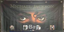 Michael Jackson Dangerous World Tour Banner Flag No Signed Fedora Glove Jacket