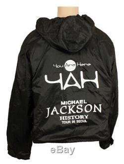 Michael Jackson'HIStory Tour original staff jacket not signed fedora glove