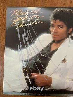 Michael Jackson Hand Signed Autographed Thriller Album Certified Authentic Coa