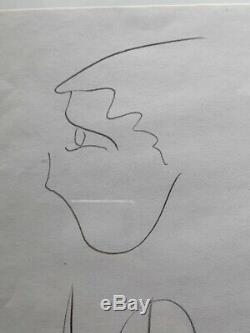 Michael Jackson Hand-Signed DRAWING Cut 14.6 x 21.0 cm (5.7x8.3) Autograph LOA