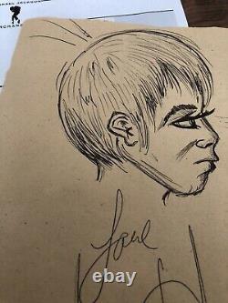 Michael Jackson Hand Signed Sketch Autograph Coa Loa No Promo