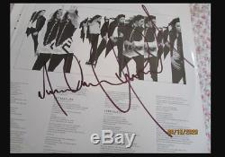 Michael Jackson Invincible Authentic LP Signed Twice in NYC, 2001 Autograph