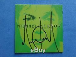 Michael Jackson Invincible Signed CD With Virgin Megastore Vip Pass