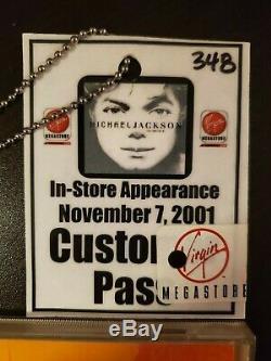 Michael Jackson Invincible autographed CD + VIP pass Virgin Megastore 2001
