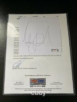 Michael Jackson Large Signed Cut Signature Psa/dna Bold 9 Authentic Thriller