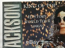 Michael Jackson MEGA RARE Signed Limited Edition HIStory Tour Poster OFFICIAL