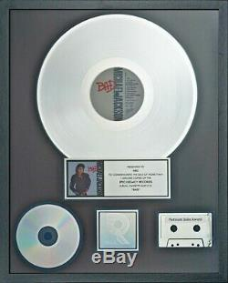 Michael Jackson Official RIAA Silver Award for BAD not fedora signed worn