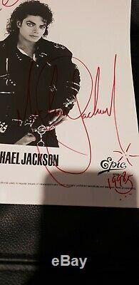 Michael Jackson Original Autograph Signed Promo Lp Picture