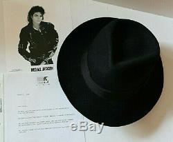 Michael Jackson Own Worn Owned Custom Made Fedora Not Glasses W Signed Loa