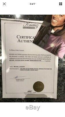 Michael Jackson Own Worn Owned Swarowski Brooche No Glove Fedora Signed