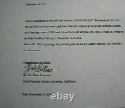 Michael Jackson Owned Montblanc 18ct Gold Pen 1981 Triumph Concert Signed Loa