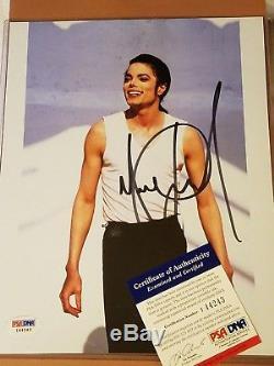 Michael Jackson PSA/DNA AUTOGRAPHED 8x10 color photo