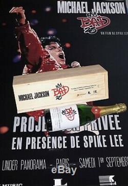 Michael Jackson RARE CHAMPAGNE BAD25 PREMIER smile promo fedora signed autograph