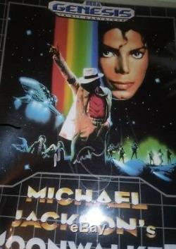 Michael Jackson SEGA Genesis Moonwalker Hand Signed 8x10 Autographed Photo COA