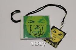 Michael Jackson SIGNED INVINCIBLE ALBUM WITH GUEST PRESS PASS GLOVE FEDORA