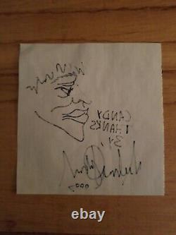 Michael Jackson SIGNED SKETCH AUTOGRAPH