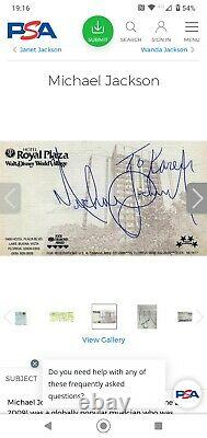 Michael Jackson Signed Autograph Page Authenticated By Roger Epperson