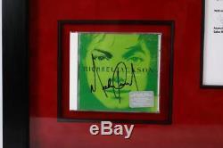 Michael Jackson Signed Autographed 5 CD Invincible Framed Bad Thriller Own