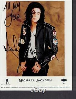 Michael Jackson Signed Autographed In Person Color 8x10 Photo 1991 Awesome