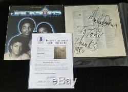 Michael Jackson Signed Autographed Triumph LP Album Sleeve BAS BECKETT LOA
