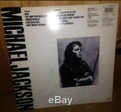Michael Jackson Signed Bad LP Rare