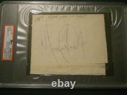 Michael Jackson Signed Document Psa/dna Authentic Autograph Thriller Hasbro