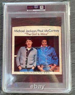Michael Jackson Signed Encapsulated 7 Vinyl Cover The Girl Is Mine PSA COA
