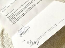 Michael Jackson Signed Fedora Hat Numbered 1988 Senator Letter Mjj Promo Box Lot