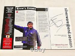 Michael Jackson Signed Football Programme Rare