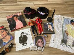 Michael Jackson Signed Headshot Thriller Dolls Hats VINTAGE Collectors Lot