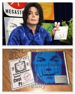 Michael Jackson Signed Invincible CD & Virgin Megastore Pass Autograph Signature