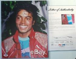 Michael Jackson Signed Photo Psa Dna Loa Autographed King Of Pop Music 5 Five
