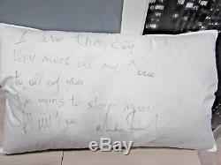 Michael Jackson Signed Pillow Coa Adlon Hotel