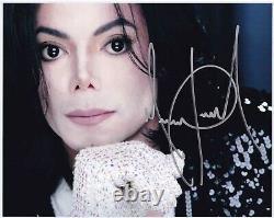 Michael Jackson Signed Promo Photo 10x8 Autograph Invincible Era Publicity Shot