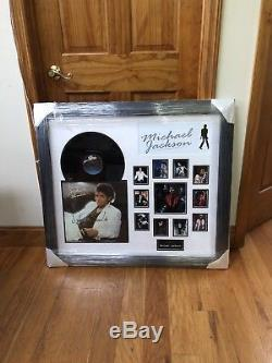 Michael Jackson Signed Thriller MJ Record Album LP Authenticated and Framed