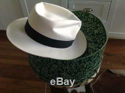 Michael Jackson Signed White Fedora Hat Autographed Thriller Coa Outstanding